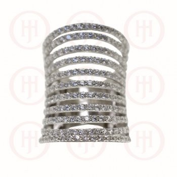 Silver Layered CZ Ring (R-1255)