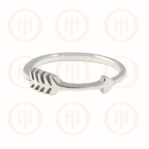 Silver Plain Arrow Ring (R-1131)