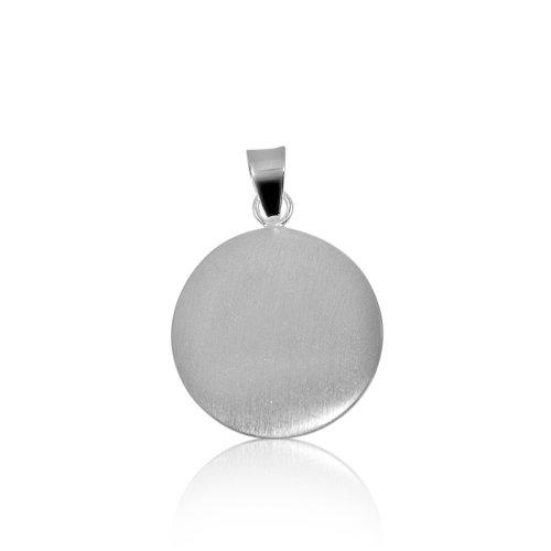 Plain Silver Round Pendant (P-1032)