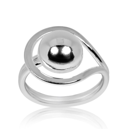 Silver Assorted Plain Ball Ring (R-1331)