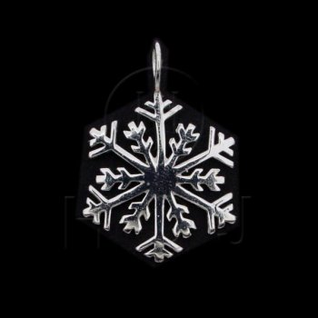 Silver Diamond Cut Assorted Charm Snowflake (C4705P)