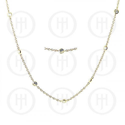 Silver Tiffany Inspired CZ by the Yard Necklace (N-1007-G)