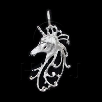 Silver DiamondCut Assorted Charm Unicorn JB105