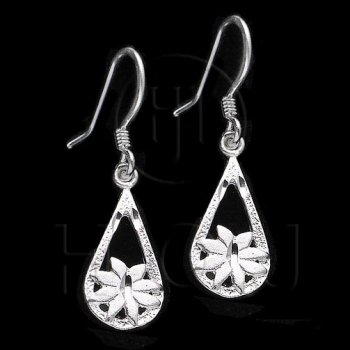 Silver Plain Dangle Earrings (ESD148)