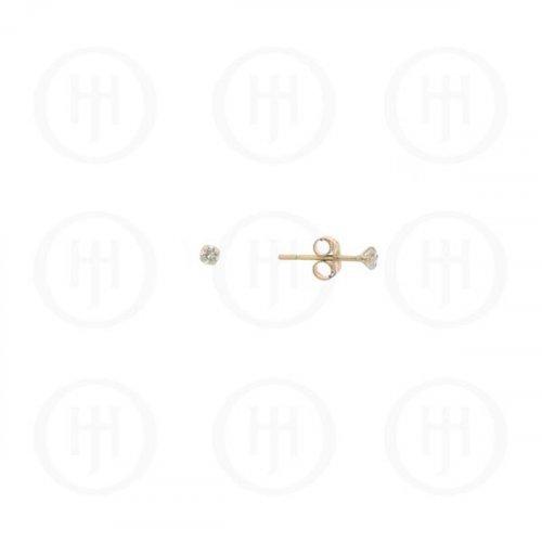 10K Gold Earrings Round CZ Stud '2mm(G-CZ-2-10K)