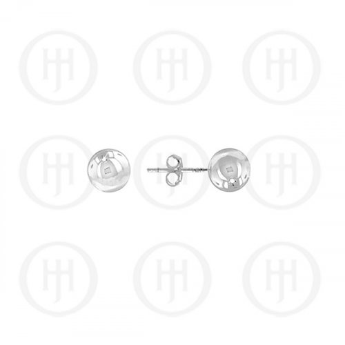 14K White Gold Earrings Ball Stud 4mm(WG-BE-4)