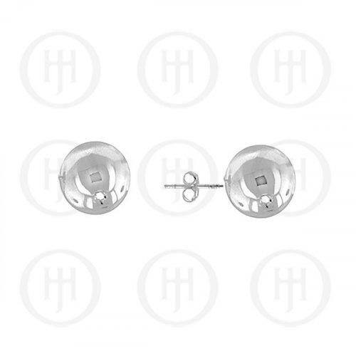 14K White Gold Earrings Ball Stud 7mm(WG-BE-7)
