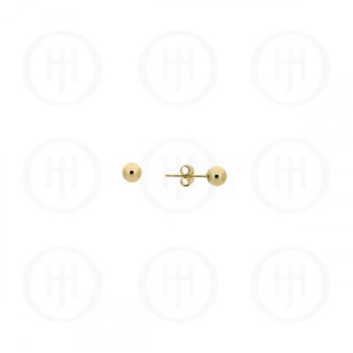 14K Gold Earrings Ball Stud 2mm (G-BE-2-14K)