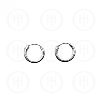 Silver Plain Hoop 12 x 3mm (13-18)