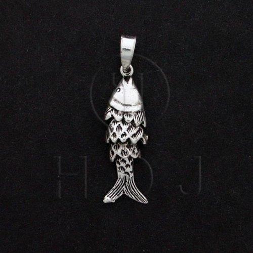 Silver Movable Pendant Fish ( P-1061)