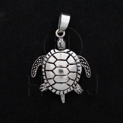 Silver Movable Pendant Sea Turtle (P-1058)