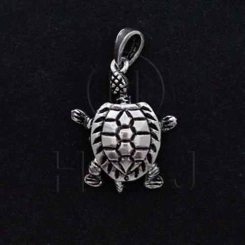 Silver Movable Pendant Turtle (P-1059)