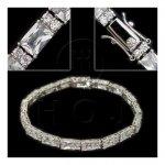 Silver Rhodium Plated CZ Tennis Bracelet (BR-CZ-120-C)