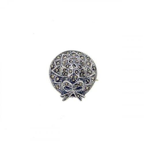 Silver Pin Marcasite Hat MP028