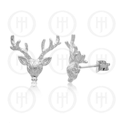 Silver Plain Reindeer Head Studs (ST-1177)