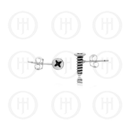 Silver Plain Screw Studs (ST-1174)