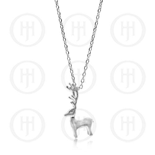 Plain Satin Reindeer Necklace (N-1160)