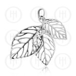 Triple Small, Medium and Large Leaf Pendant (P-1307)
