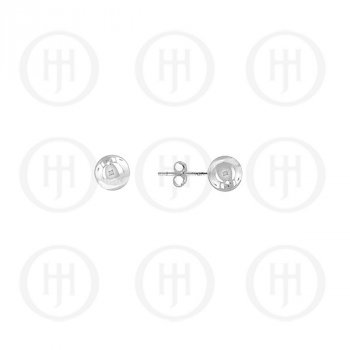 14K White Gold Earrings Ball Stud 3mm(WG-BE-3)
