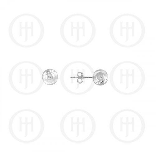14K White Gold Earrings Ball Stud 3mm(WG-BE-3-14k)