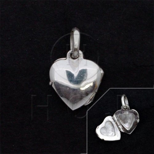 Sterling Silver Plain Heart Locket 11mm (LOC-PH-1040)