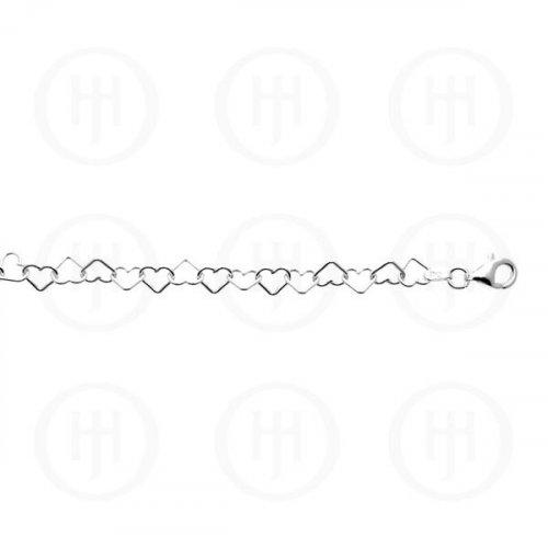 Silver Assorted Fancy Chain Heartlink 3.0mm (HE-1)