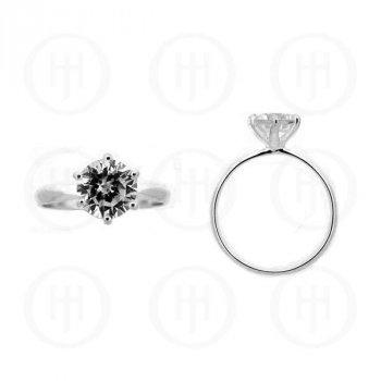 Silver Rhodium Plated CZ Ring (R-1090)
