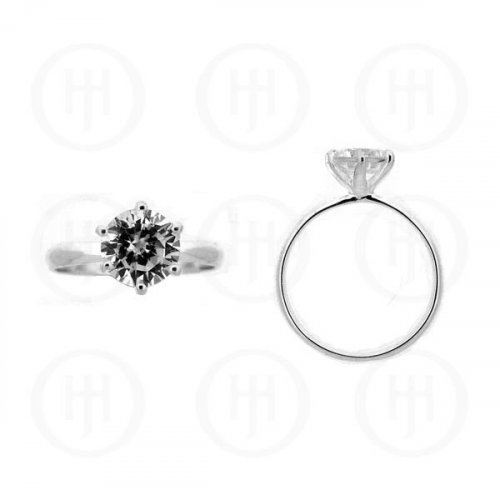 Silver Rhodium Plated CZ Ring (R-1090)