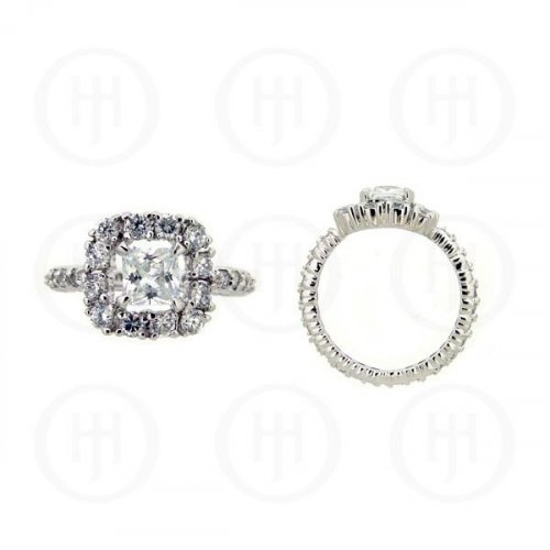 Silver Rhodium Plated CZ Ring (R-1083)