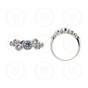 Silver Rhodium Plated CZ Ring (R-1099)