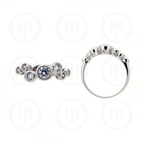 Silver Rhodium Plated CZ Ring (R-1099)
