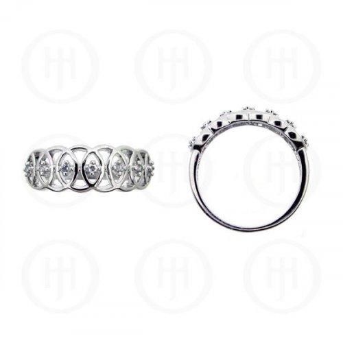 Silver Rhodium Plated CZ Ring (R-1101)