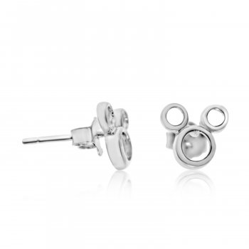 Plain Silver Mickey Mouse Stud (ST-1218)