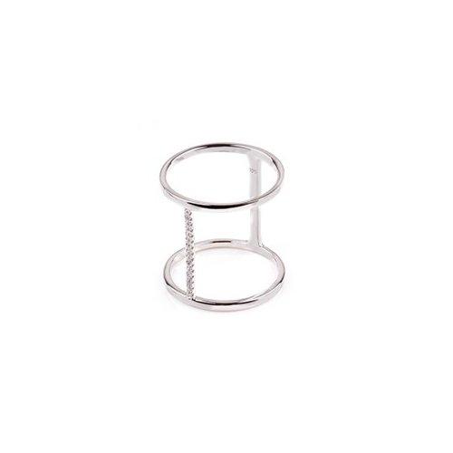 Minimal CZ Vertical bar ring (R-1511)