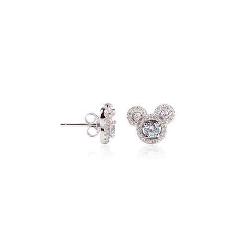 Sterling Silver CZ assorted mickey mouse stud earring (ST-1212)