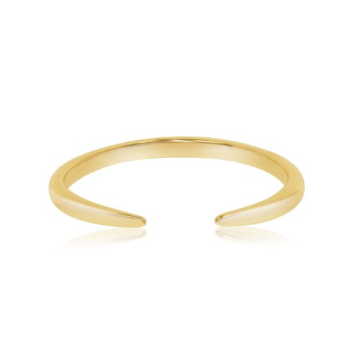 Sterling Silver Tusk Ring Gold Plated (R-1346-G)