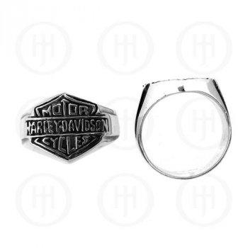 Silver Men's Harley Davidson Ring (R-HDL212)