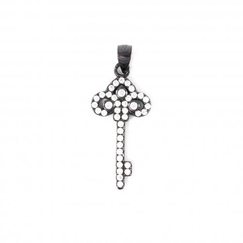 CZ Mini Tiffany Key Pendant (P-1302)