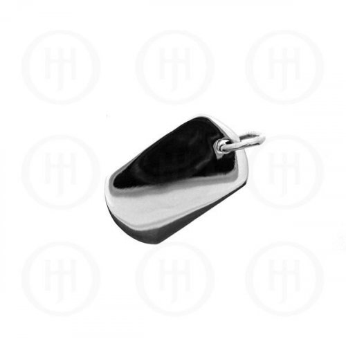 Silver Dog-Tag Pendant (Small) (DT-103)