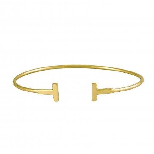 Small Tiffany Inspired T bangle (IB-1062)