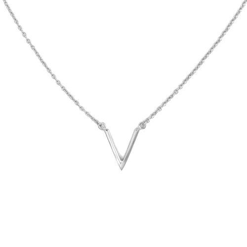 """Silver """"V"""" Necklace"""