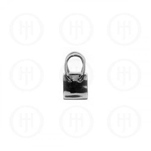 Plain Silver Shopping Bag Pendant (PSHL-2)