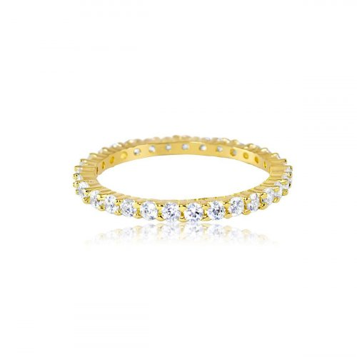 Gold Plated Eternity Band 2mm (R-1357-G)