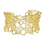 Multi Circle CZ Bangle Gold (IB-1074-G)