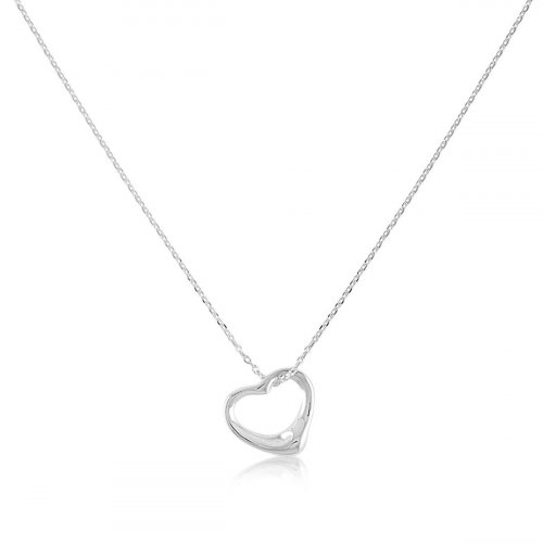 Gold Plated Heart Shaped Necklace (N-1123)