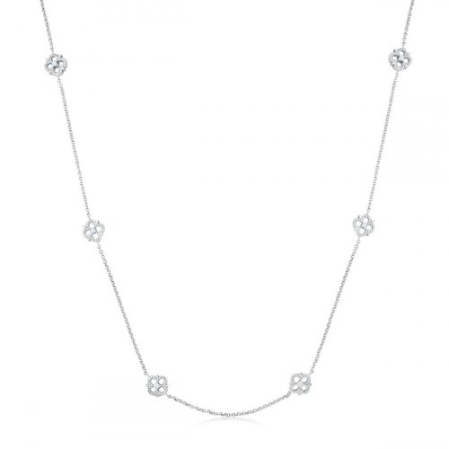 Gold Plated Vancleef Necklace with CZ