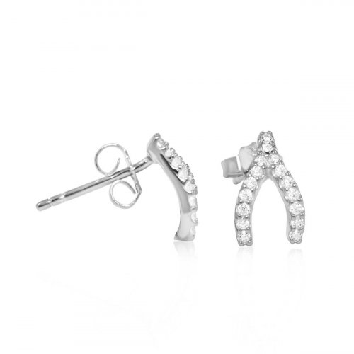 Gold Plated Wishbone Earring (ST-1231-G)