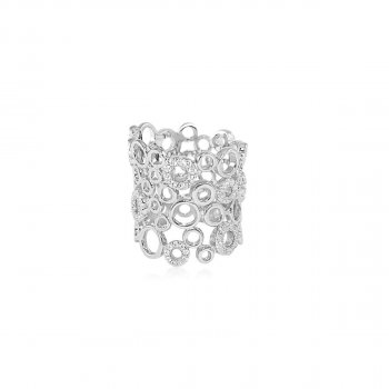 Sterling Silver Multi Circle Ring (R-1355)