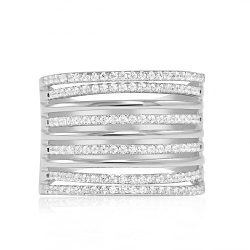 Sterling Silver Multi Band Ring (R-1356)