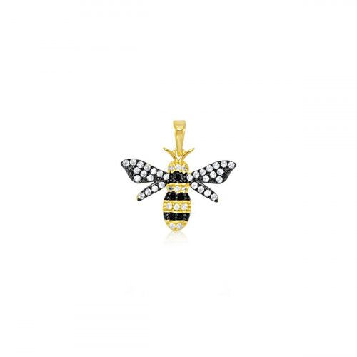 Yellow Gold Plated Bumble Bee (P-1367)